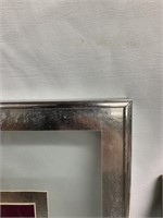 Vintage glass and metal photo frame