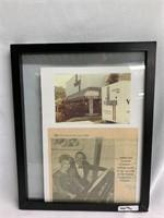 Framed Newsletter - Houston Post about Villani's