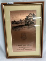 Framed Unique, Bronze Artwork of Colonel Scott