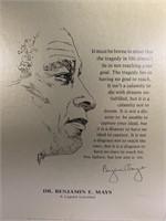 Framed Picture of Dr. Benjamin E. Mays