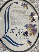 """Wall Art - Let Go & Let God"""" Poem"""