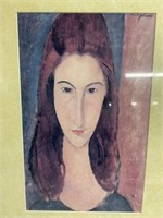 "Rare Self Portrait of ""Jeanne Hebuterne"""