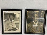 Framed vintage photos of African American Male &