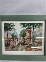 Women in a market & girl on swing - Classic