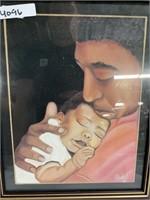 A fathers love portrait - Father & his newborn