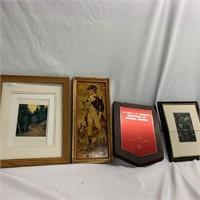 Plaque & Modern Art Work