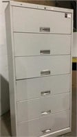 (qty - 3) 6 Drawer Lateral Filing Cabinets-