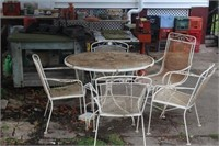 Metal Table w/ (4) Chairs & (1) Rocker