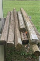 Landscaping Timbers & (2) Saw Horses
