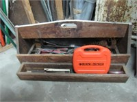 Wooden Tool Box w/Contents