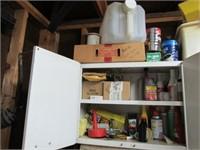 (2) Cabinets w/ Contents: Oil, Fluids, Chemicals