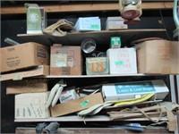 Contents of Shelf: Porch Light, ect