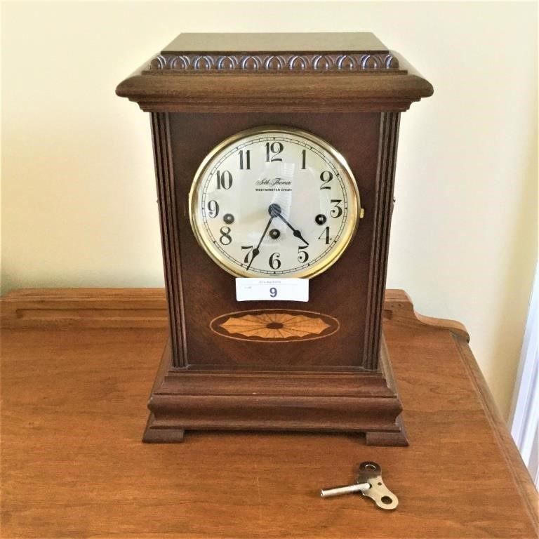 Seth Thomas Monticello Westminister Chime Clock | Tenn Auctions