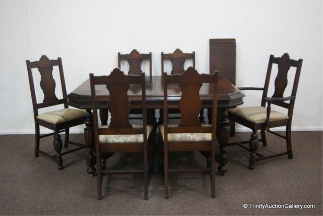 Walnut Dining Table Chair Set