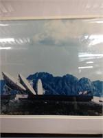 Framed portrait of Satellite & Building