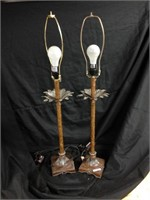 Tall Twin modern  Lamps bronze color