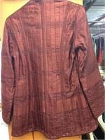 Dark Red/burgundy Hand Quilted 100% Silk Jacket