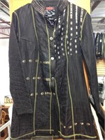 Black Hand Quilted 100% Silk Jacket Made in India