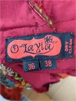 100% Silk Day Dress w/ handmade embroidery