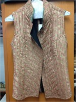 Beautiful Rose Gold/Pink Hand-made Vest from India
