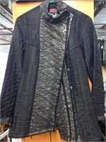 Black & Silver Hand Quilted Jacket Made in India