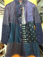 Patch Design Hand Quilted 100% Silk Jacket