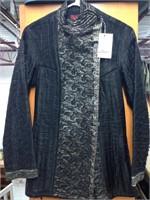 Stunning Black Hand Quilted 100% Silk Jacket