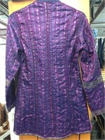 Purple & Blue Hand Quilted Jacket Made in India