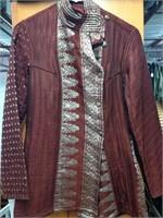 Burgundy Hand Quilted 100% Silk Jacket