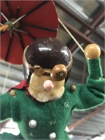 Vintage Parachuting pilot figurine