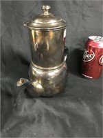 Vintage silver plated tea kettle with strainer