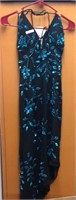 Beautiful Black Evening Dress, Embroidered w/