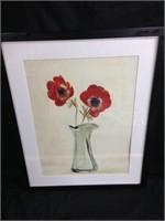 Flower in Vase Portrait 17 x 21.5