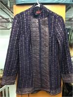 Silk Vintage Hand Quilted Jacket (Purple / Size