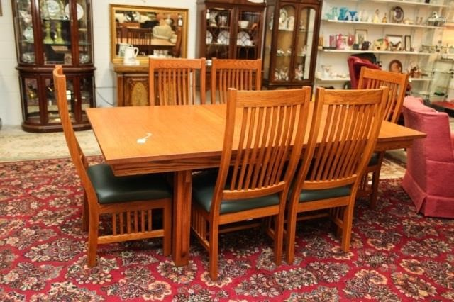 Penns Creek Furniture Co Mission Table 6 Chairs Susan S