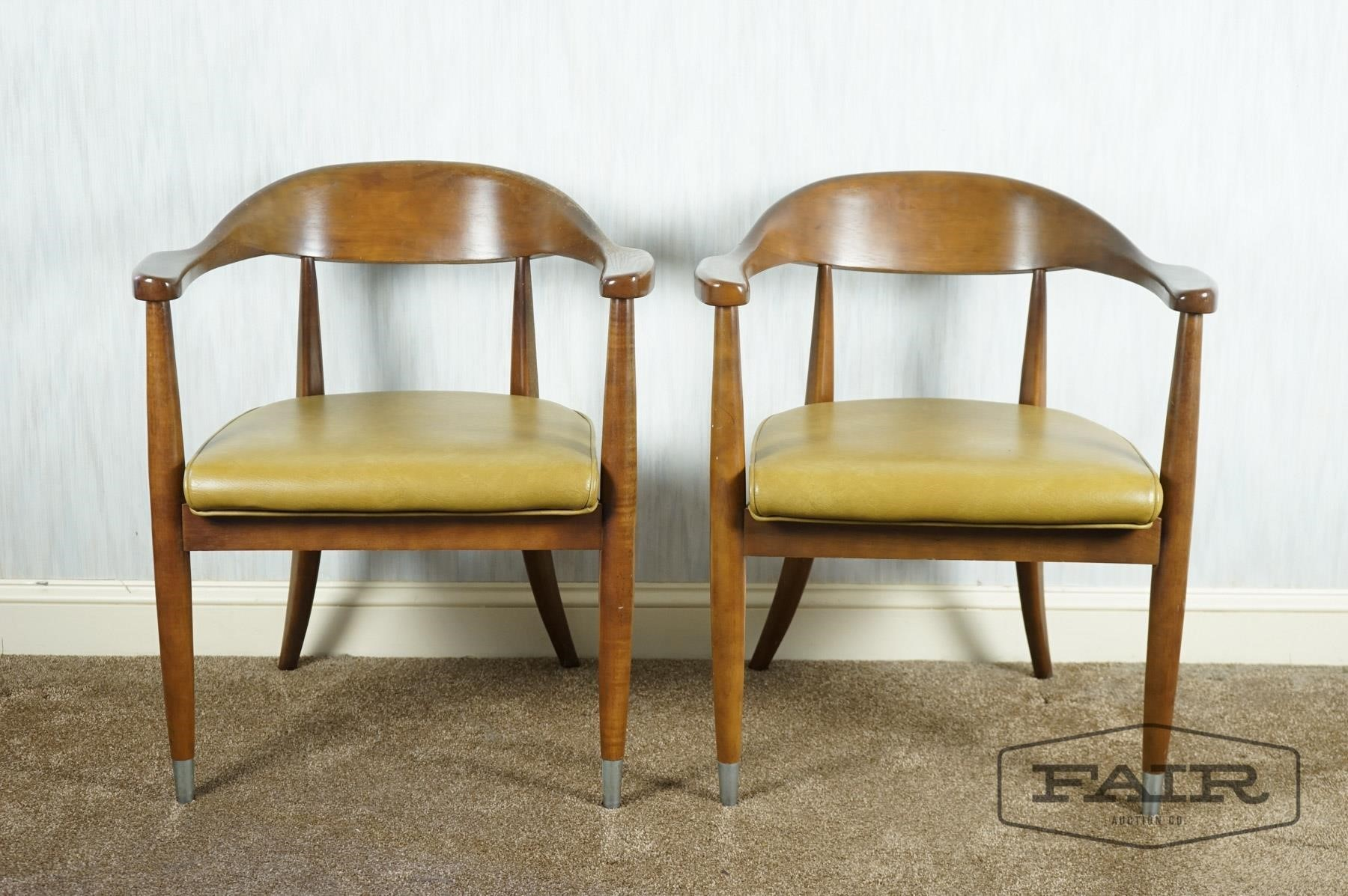 Enjoyable Pair Of Boling Mid Century Modern Arm Chairs Fair Auction Gmtry Best Dining Table And Chair Ideas Images Gmtryco