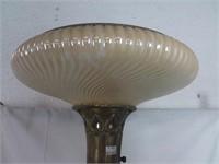 """Lampe sur pied avec marbre et lustre en verre 65"""""""