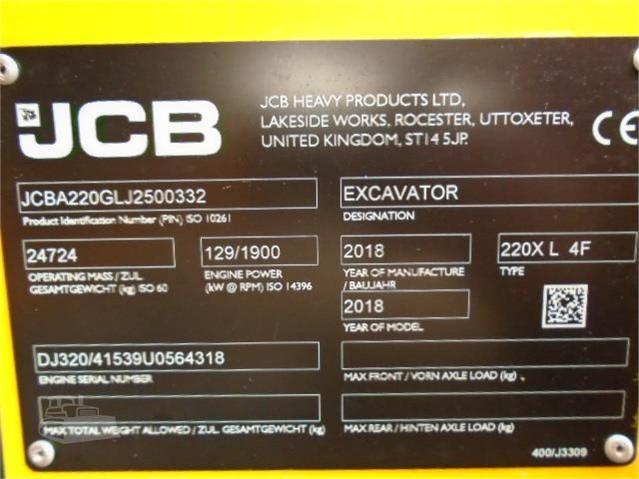 2018 JCB 220X LC | www online-plant net