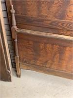 3/4 carved high back bed
