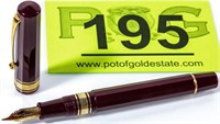 Omas Milord 18K Nib Maroon Fountain Pen