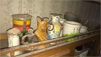 Old candy shop jar & old glasses