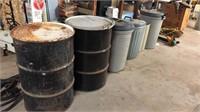 Barrels & trashcans