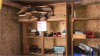 Baseball bats, shelves, lumber