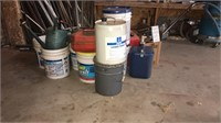 Gas can & buckets