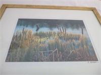 Two Prints & Artist Easel