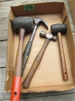(2) Hammers, (2) Rubber Mallets
