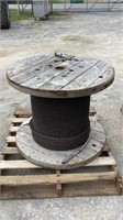 """Spool of 3/4"""" Braided Steel Cable-"""