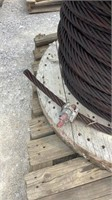 """Spool of 7/8"""" Braided Steel Cable-"""