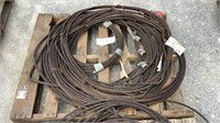 "(qty - 4) Rolls of 1/2"" Thick Braided Steel Cable-"