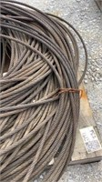 """(qty - 3) Rolls of 1/4"""" Thick Braided Steel Cable-"""